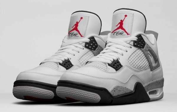 New Arrive Air Jordan 4 White Cement