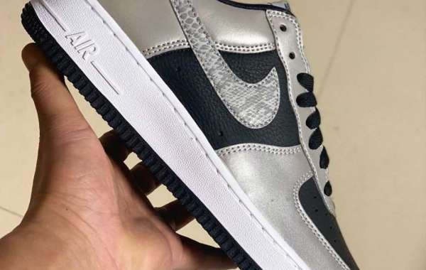 "Nike Air Force 1 B ""3M Snake"" Black Silver White Returning in 2021"