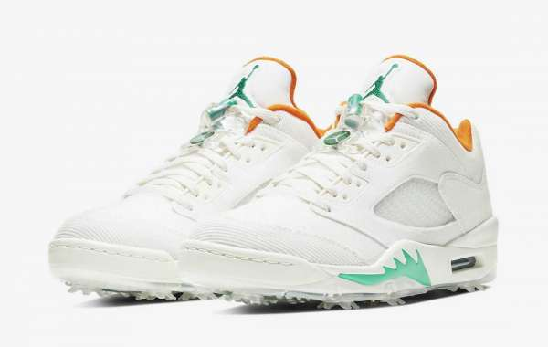 "Nike Air Jordan 5 Low Golf ""Lucky and Good"" Basketball Shoes CW4204-100"