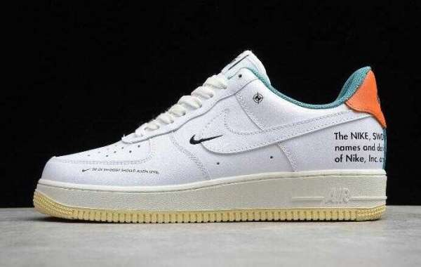 Brand New Nike Air Force 1 07 LE White Sail Starfish DM0970-111 Shoes